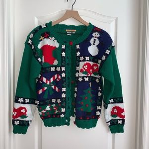 Vintage Bryn Connelly Christmas sweater size Sm